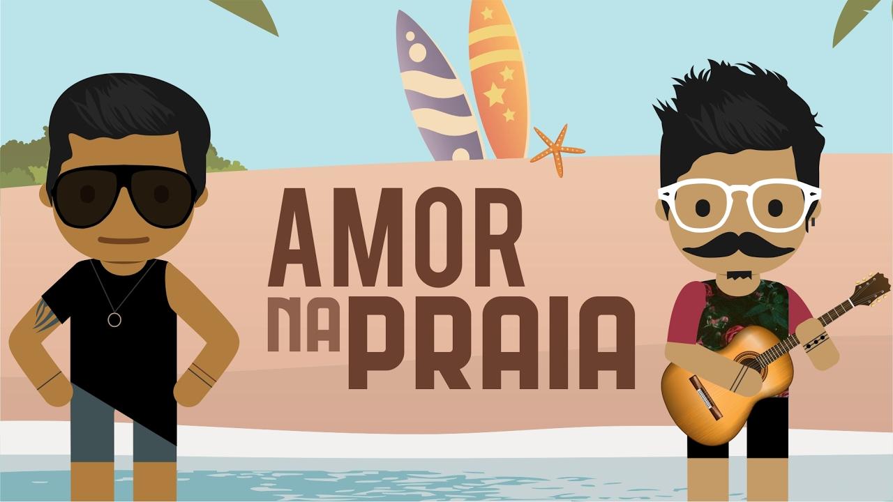 Alisson & Ariel - Amor na Praia | Clipe Cartoon