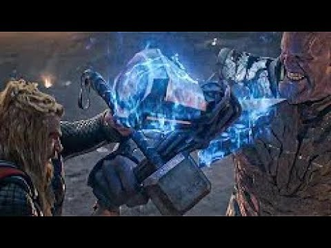 Avengers: Endgame - Thor, Iron Man and Captain America Vs Thanos (Full Fight Scene) HD