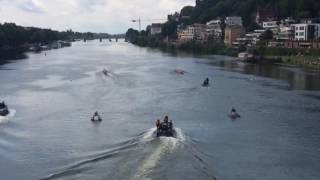 William und Kate in Heidelberg - Ruderregatta Start