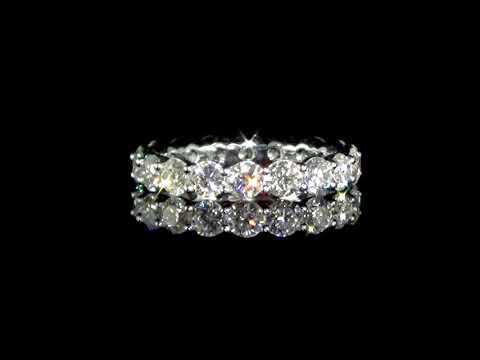 Lady's 18k White Gold 3.14ct (TDW) Diamond Eternity Ring