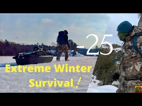 2 Days Solo Extreme Winter Survival Challenge
