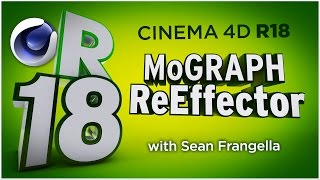 In This Cinema 4D R18 tutorial video, learn about an update to the MoGraph Cloner Animation system, the MoGraph ReEffector. With the new C4D R18 ReEffector, you can adjust the strength of multiple Effectors simultaneously. You can also use the new MoGraph ReEffector to adjust different properties after multiple Effectors have been added to a cloner. For example, if you have 3 different effectors on a cloner, and then want to adjust the X-position of clones only, you can add a ReEffector after the other effectors to do so. This new feature and updates in Cinema 4D R18  are just a few of many updates for C4D R18, available in 2016. There are also additional updates to Cinema 4D R18 including the Material updates with the ThinFilm Shader and Parallax Bump Mapping, Inverted Ambient Occlusion, the new Shadow Catcher materials, MoGraph updates, new effectors, and more! To learn about other updates to Cinema 4D R18, be sure to check out www.MotionTutorials.net/updates-new-featuresBe sure to check out the new product, 360° Environment Maps Pro for Cinema 4D, Cinema 4D Lite, and Element 3D in the online store:  http://www.motiontutorials.net/store/With 360° Environment Maps Pro, you can get new environments for your Cinema 4D & Element 3D Projects.Check it out for Cinema 4D / C4D Lite:  http://tiny.cc/bqmbcyCheck it out for Element 3D for AE:  http://tiny.cc/1qmbcyTo learn about the new MoGraph Animation Features for Cinema 4D R18 individually, check out these videos:MoGraph R18 Cloner HoneyComb Array:  http://tiny.cc/mv84cyMoGraph R18 Scaling:  http://tiny.cc/gt84cyMoGraph R18 Push Apart Effector:  http://tiny.cc/su84cyMoGraph R18 ReEffector:  http://tiny.cc/iu84cyMoGraph R18 Weight Painting:  http://tiny.cc/ct84cyLike this tutorial? Consider becoming a Patron at Patreon.com/SeanFrangella to get additional benefits such as project files and more! Be sure to check out http://www.MotionTutorials.net for weekly tutorials on Cinema 4D, After Effects, Element 3D, Adobe Fuse and other cool motion graphics apps! This free Cinema 4D R18 tutorial also covers 3D animation tips and tricks in C4D.To get weekly Cinema 4D, Element 3D, After Effects, Motion Graphics, VFX, and 3D animation tutorials be sure to subscribe!http://www.youtube.com/subscription_center?add_user=SEANFRANGELLA To check out new features added to Cinema 4D R17, check out this video!http://tinyurl.com/gtf2h9rTo check out new features added to Cinema 4D R16, check out this video!http://tinyurl.com/ptphgwhCheck out the Top 5 Features of Element 3D V2 for After Effects!http://tinyurl.com/p3g4nwq