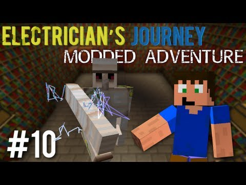 Minecraft: Electricians Journey Mod Pack Ep. 10 – Golem Boss