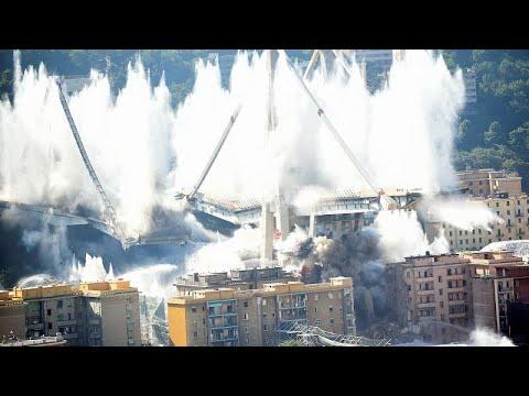 Ιταλία: Κατεδαφίστηκε η γέφυρα της Γένοβας