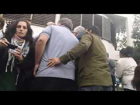 Escrache a Vidal en su recorrida por el hospital Gandulfo