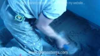 How to install shower pan and floor mud bed.  Part