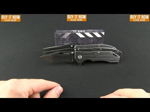 "Kershaw Manifold Assisted Opening Flipper Knife (3.5"" BlackWash) 1303BW"