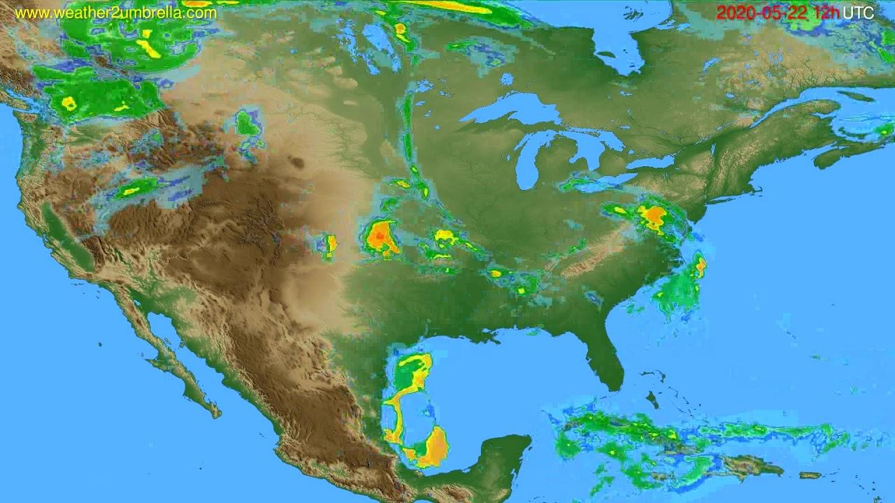 Radar forecast USA & Canada // modelrun: 00h UTC 2020-05-22