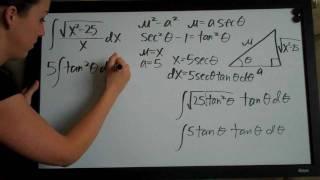 Trigonometric Substitution Example 2