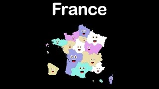 Learn about the country of France and all of it's 18 land and overseas regions, with this fun, animated, educational, music video!