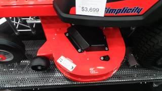 1. Simplicity Courier 48 inch Zero Turn Mower ...G.I.E. 2016