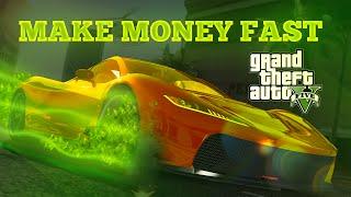 GTA 5 ONLINE Easy/Fast Money Mission! $75,000+ (Fun GTA 5 Online Money Guide)