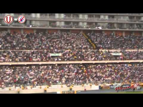 Video - ESPECTACULAR: HINCHADA CREMA DANDO CATEDRA DE ALIENTO ANTE LOS CAGONES - Trinchera Norte - Universitario de Deportes - Peru