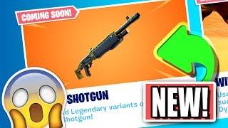 *NEW* LEGENDARY PUMP SHOTGUN Coming Soon to Fortnite: Battle Royale