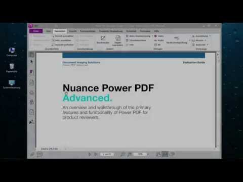 Nuance Video 1 Power PDF - die Benutzeroberflaeche