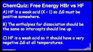 Free Energy Of HBr Vs. HF  (Quiz 1)