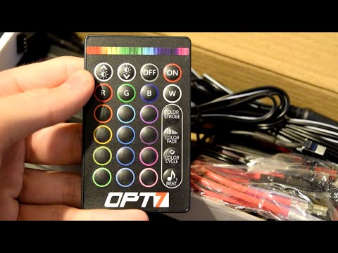 OPT7 Aura Interior Lighting Kit LED Unboxing and Overview
