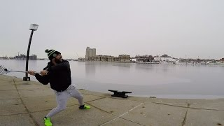 Throwing A Lacrosse Ball Across Baltimore Harbor
