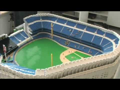 yankee stadium - I was interviewed by MLB Entertainment News about this LEGO model of Yankee Stadium. Lots more photos at http://www.seankenney.com/portfolio/yankee_stadium/