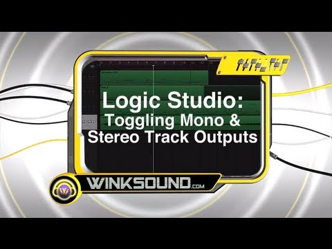 Logic Pro: Toggling Mono and Stereo Track Outputs | WinkSound