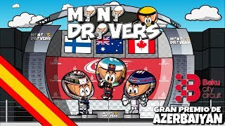 ¡Hemos vuelto! La nueva temporada de MiniDrivers ya está en marcha y los mejores resúmenes de la temporada están a tu alcance con el único humor de tus personajes favoritos.La mayor de las locuras se apoderó de un caótico GP de Azerbaiyán en el circuito urbano de Bakú. La polémica entre Sebastian Vettel y Lewis Hamilton fue solo la guinda de un pastel repleto de sorpresas con la victoria de Daniel Ricciardo y el primer podio de Lance Stroll en F1. Descubre los mejores momentos de la carrera de la mano de tus personajes favoritos. - - - - - - - - - - - - - - - - - - - - - - - - -- - - MOTORSPORT.COM  - - - - - - - - - - - - - - - - - - - - - - - - - - - - -Todas las novedades del motor en la web del patrocinador oficial de los MiniDrivers, Motorsport.com. Síguelos en su página web, twitter o Facebook. WEB: http://www.es.motorsport.comTWITTER: https://twitter.com/es_MotorsportFACEBOOK: https://www.facebook.com/motorsportcom.espana/- - - - - - - - - - - - - - - - -- - - SÍGUENOS  - - - - - - - - - - - - - - - - - - - - -MiniDrivers - F1: https://www.facebook.com/officialminidrivers/MiniBikers - MotoGP: https://www.facebook.com/officialminibikersMinEDrivers - Formula E : https://www.facebook.com/officialminedriversMindyDrivers - Indycar: https://www.facebook.com/mindydrivers/TWITTEREnglish: https://twitter.com/officialminisEspañol:https://twitter.com/officialminisESTELEGRAMChannel: https://telegram.me/officialminisGroup: https://telegram.me/officialministelegram- - - - - - - - - - - - - - - - - - - - VIDEOGAME - - -- - - - - - - - - - - - - - - - - MINIDRIVERS - VIDEOGAMEiOS: https://itunes.apple.com/app/id873538439?mt=8Android: https://play.google.com/store/apps/details?id=com.minidrivers.formula1.comOSX: https://itunes.apple.com/us/app/minidrivers-game-mini-racing/id994431876?mt=12Steam: http://store.steampowered.com/app/385490/MINIBIKERS - VIDEOGAMEiOS: https://itunes.apple.com/app/id1015922561?mt=8Android: https://play.google.com/store/apps/details?id=com.miniBikers.bikesOSX: https://itunes.apple.com/app/id1022820730?mt=12Steam: http://store.steampowered.com/app/416350/
