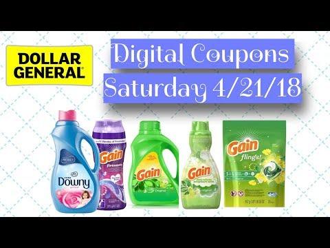 Dollar General SATURDAY $5/$25 ALL DIGITAL COUPONS// GAIN PRODUCTS!!