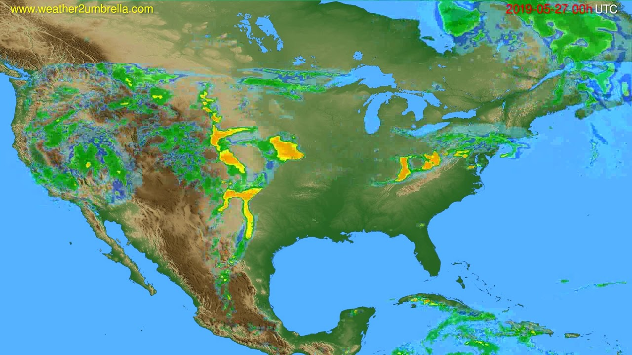 Radar forecast USA & Canada // modelrun: 12h UTC 2019-05-26
