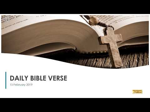 Bible quotes - Daily Bible Verse 15 February 2019