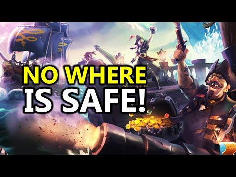 ♥ In Sea of Thieves No Where Is Safe - PvP Multiplayer Gameplay