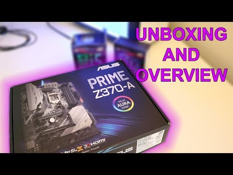 Asus Prime Z370-A Motherboard Unboxing and Overview