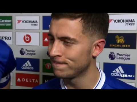 Eden Hazard & Cahill Post Match Interview  Che 3-1 Arsenal