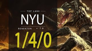 ~~~~Deixe o seu like, se inscreva e comente!!~~~~Nyu League of Legends ReplayNyu as RENEKTON TOP - Season 7Patch 7.8Runas e Talentos:http://matchhistory.br.leagueoflegends.com/pt/#match-details/BR1/1068261116/202579568?tab=builds&participant=2