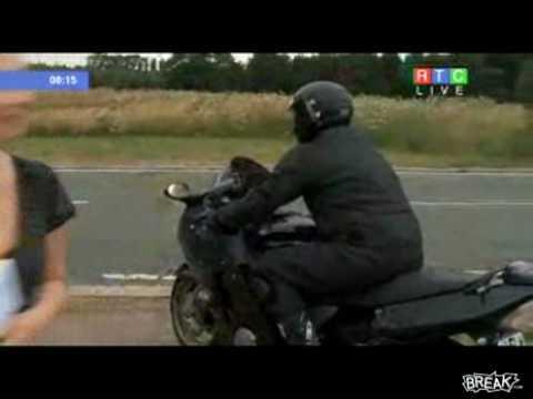Demencial Test de Motociclista en TV en Vivo
