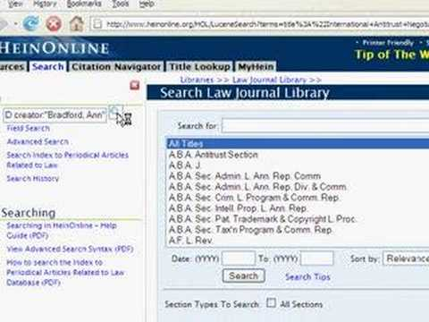 How to Find an Article in the Law Journal Library