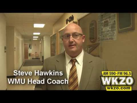 WMU Head Coach Steve Hawkins talks with Carolyn Binder about the Broncos snapping a 2-game losing streak and 7 days off after defeating Northern Illinois 66-58