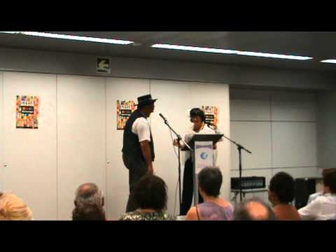 Escenificación poema Antonio Mayo por Pedro Toledano, Juanita Porras y Manuel Gutiérrez