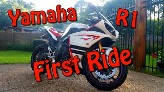 10. 2009 Yamaha R1 Review and First ride | First Time On a 1000cc Sport Bike
