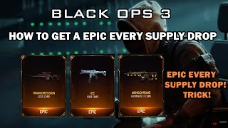 ♔SUBSCRIBE! for the FRESHEST! B03 Zombies Videos!♔Support the video by spending 1 second clicking the 'Like' Button!Thanks :) This is a neat little trick to use when opening supply drops in the black ops 3 black market allowing you to obtain a epic in every supply drop you open Enjoy :)FOR ★VIP★ ACCESS TO ALL MY GLITCH VIDEOS LIKE! MY FACEBOOK PAGE!http://www.facebook.com/applemastered