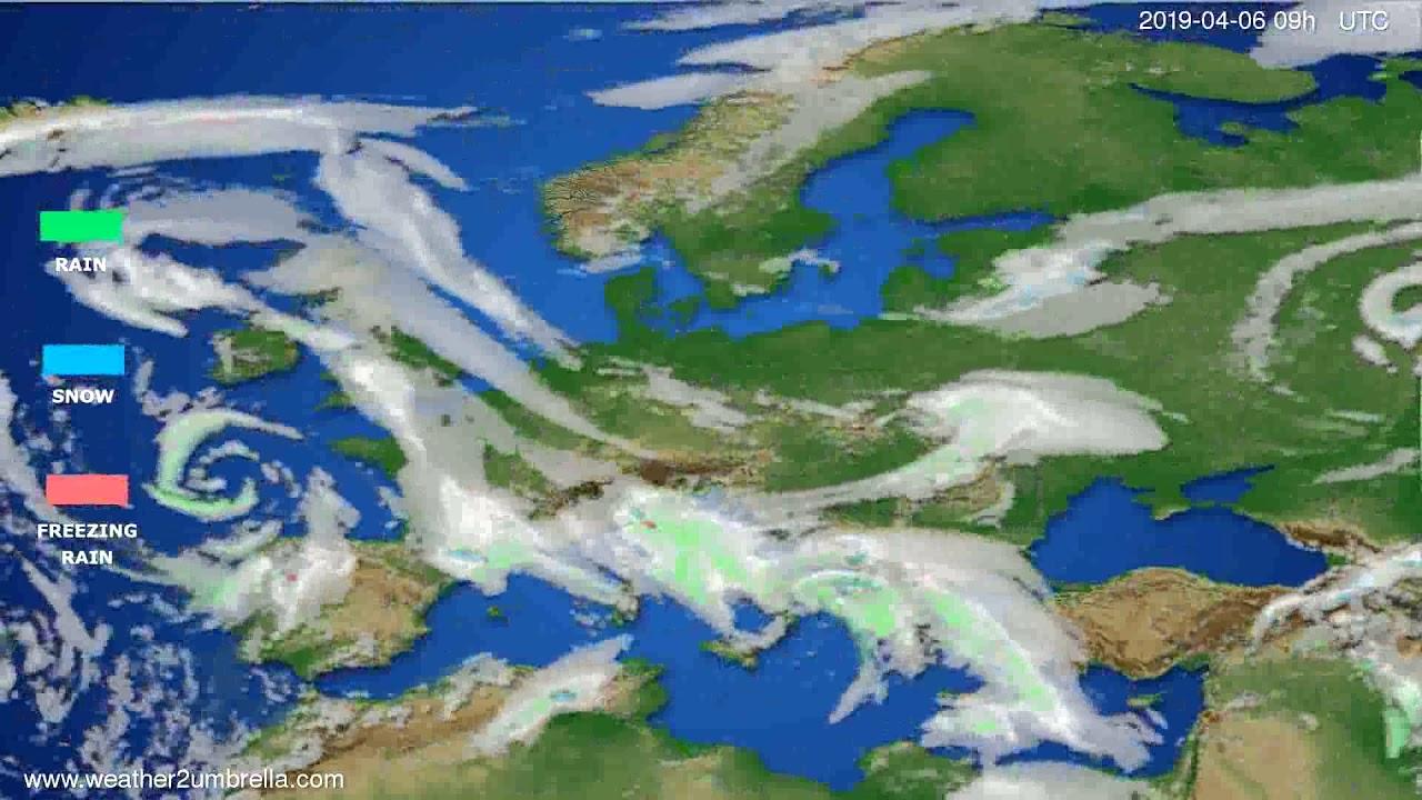 Precipitation forecast Europe // modelrun: 12h UTC 2019-04-02