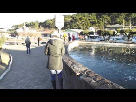 Lago da praça de Urupema congelado -9 graus !!!