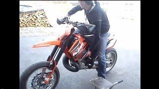 8. Driving with my KTM SX 250 2006 supermoto full throttle engine sound - doma racing exhaust