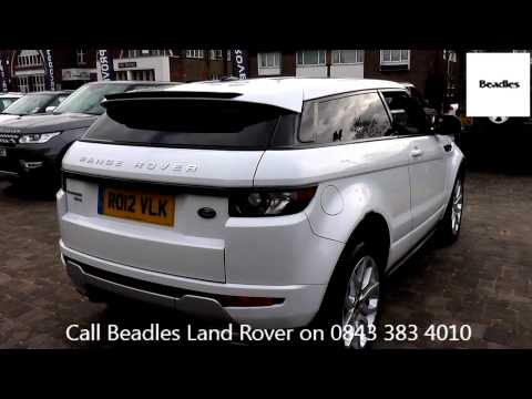 Beadles Fuji White 2012 Land Rover Range Rover Evoque SD4 DYNAMIC 2.2l  RO12VLK