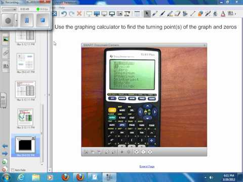 7-2 Graphing Polynomial Functions – Example 5 – Graphing Calculator