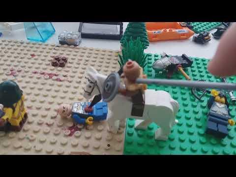 Лего самоделка по тематике Assasin's creed odesey  (битва спарты)