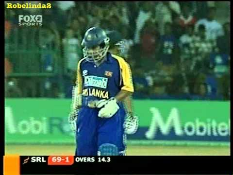 Sangakkara 58 and Jayawardena 61 vs Australia, 2004