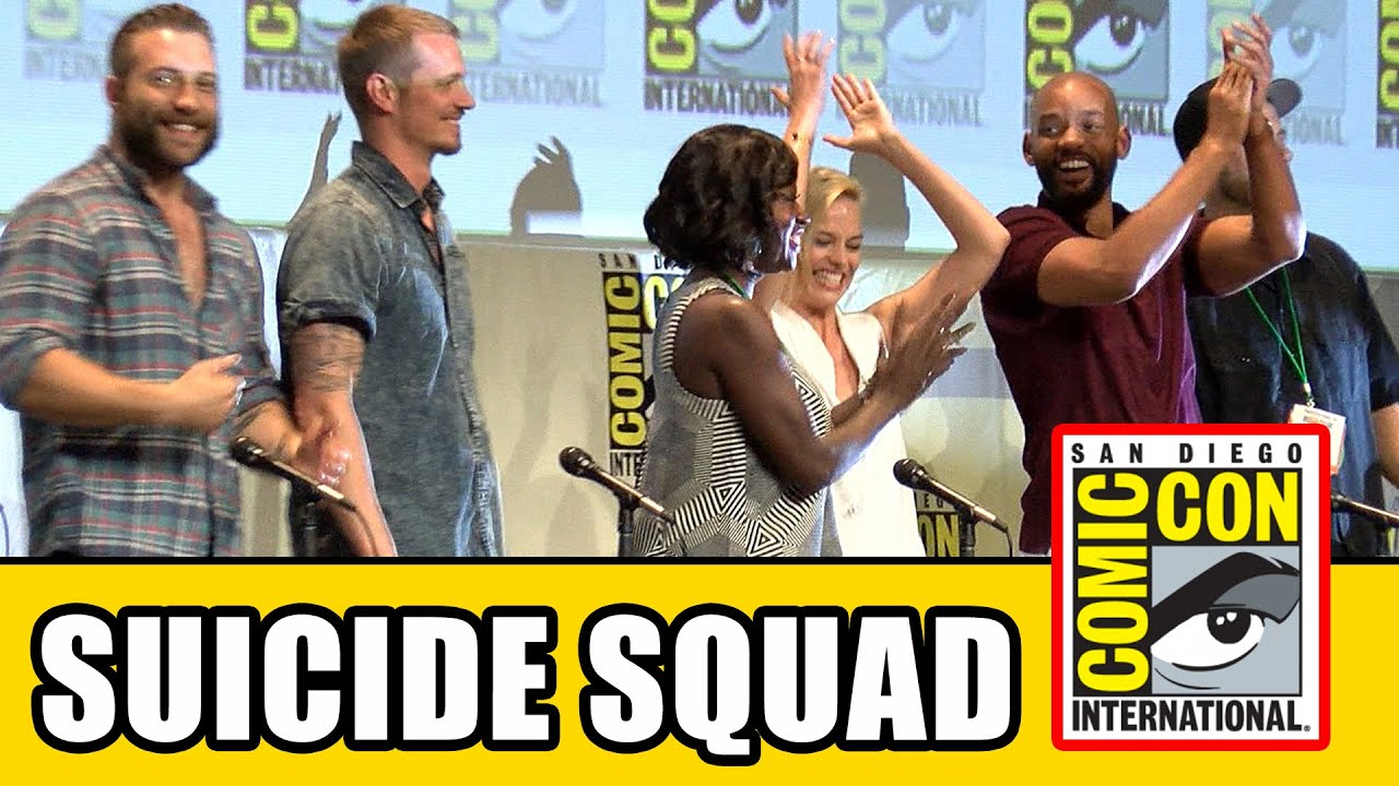 Suicide Squad Comic Con Panel: Will Smith, Margot Robbie, Cara Delevingne, Viola Davis, Jai Courtney