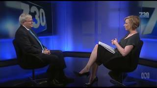 Kevin Rudd on 7.30