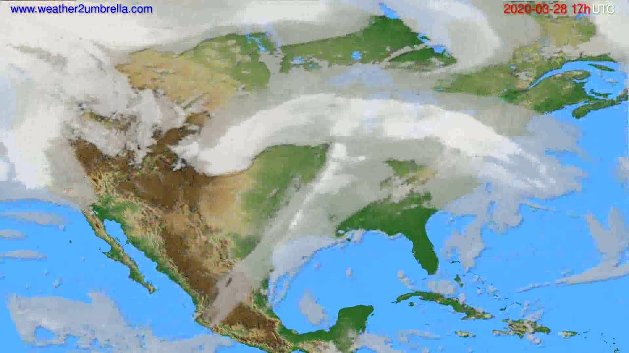 Cloud forecast USA & Canada // modelrun: 12h UTC 2020-03-27