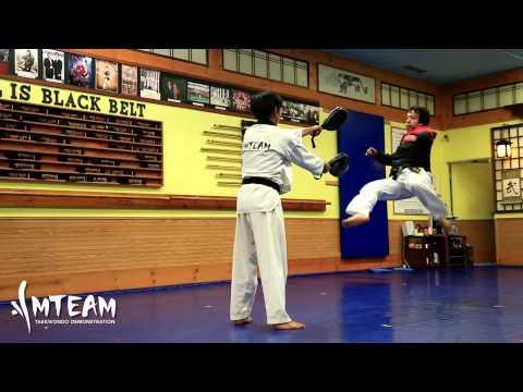 Team-M Taekwondo: 360, 540, 600, 720, & back-flip (видео)