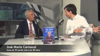 José María Carrascal, autor de 'El mundo visto a los 80 años'. 18-9-2014
